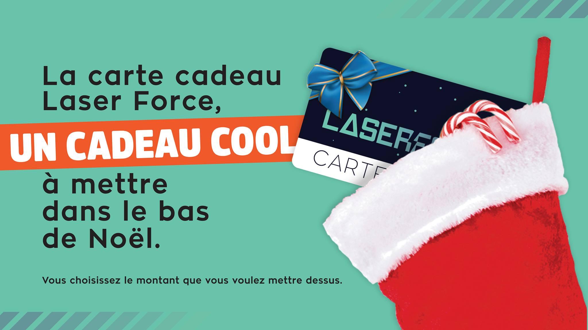 Carte cadeau Laser Force, un cadeau cool à mettre dans le bas de Noël