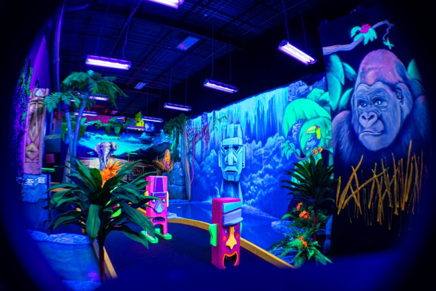 Décors mini golf laser force zone jungle